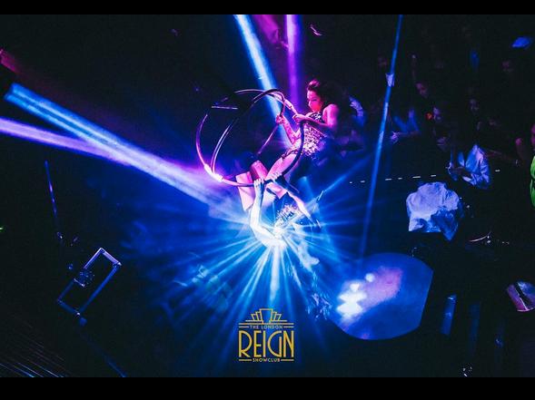 Starfiz Aerial Sphere at London Reign Showclub