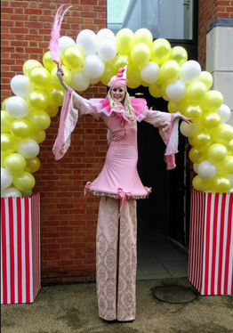 Circus Lady in Pink