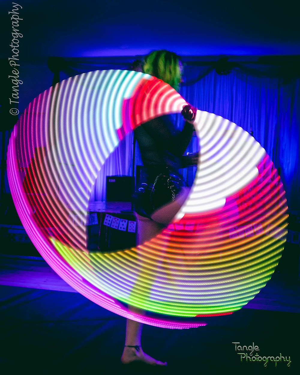 Annie LED Hula Hoop Act by Tangle Photography