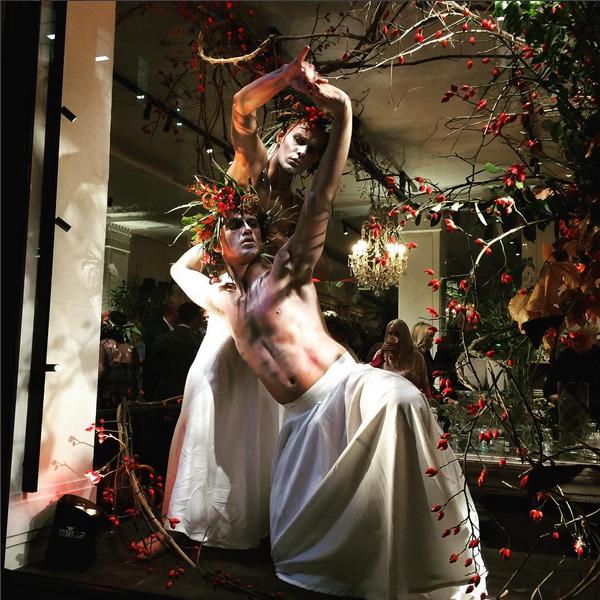 Contemporary Dance in shop windon