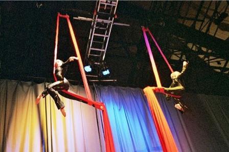 Kung Fu Aerial Silks Act