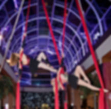 Gala Aerial Circus performance at The Hurlingham Club