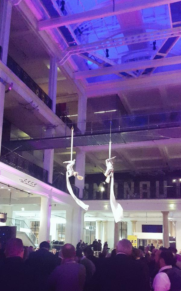 Silks act at the Science Museum events