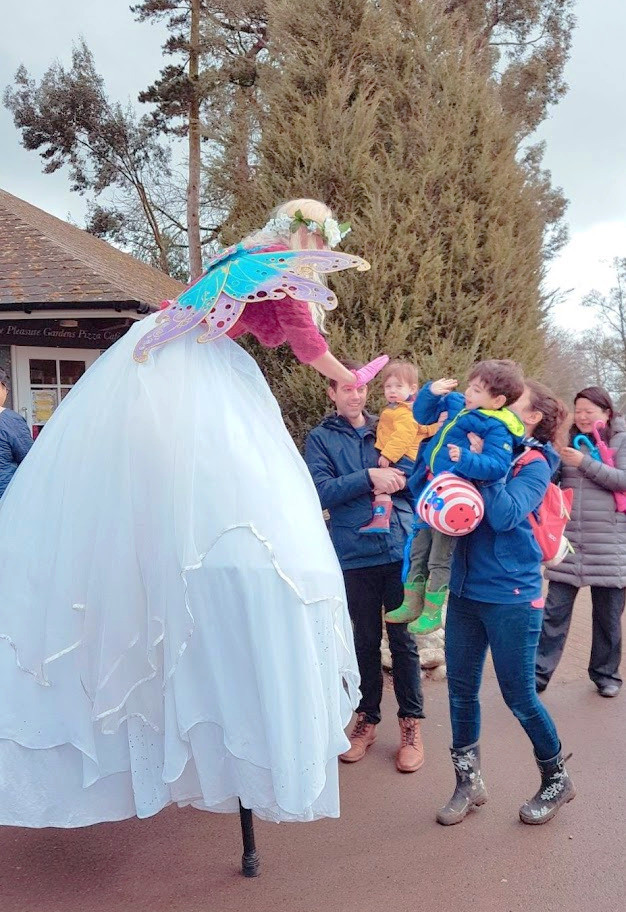 Easter Fairy high five at Blenheim Palace