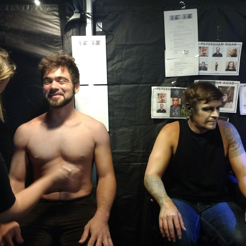 Sam and Mark in Makeup