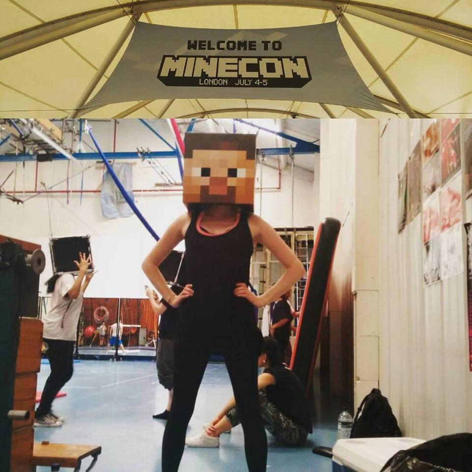 Minecon dance rehearsal at Tha Hangar Arts Trust