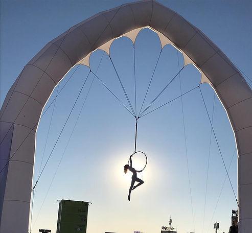 Katie Hardwick aerial hoop on The Dream Engine Arco