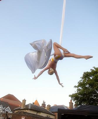 Circus Act on Silks