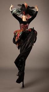 Black Swan Stilt Walker