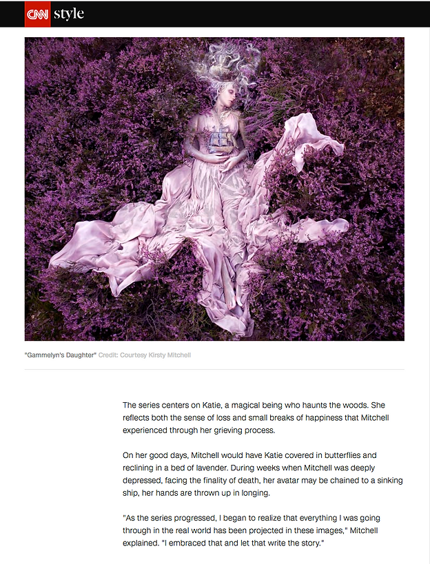 Kirsty Mitchell Wonderland Exhibition CNN