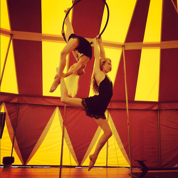 Aerial Hoop Duet performed by Sisters Maddy and Katie Hardwick