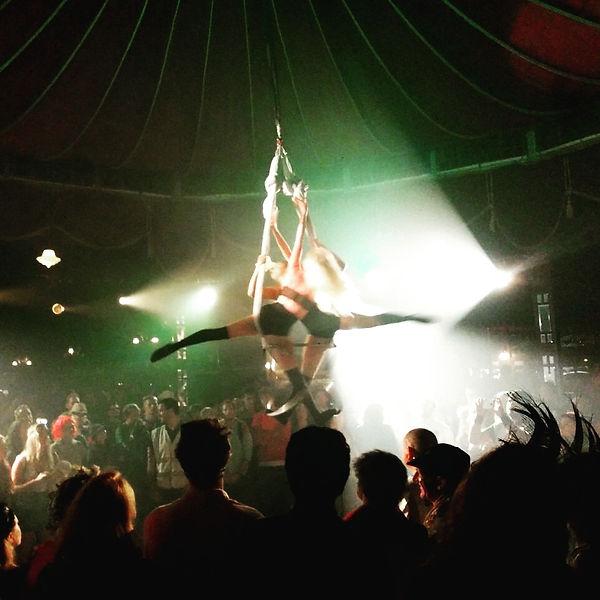 Starfiz Aerial Sphere Spiegeltent Wilderness Festival 2015