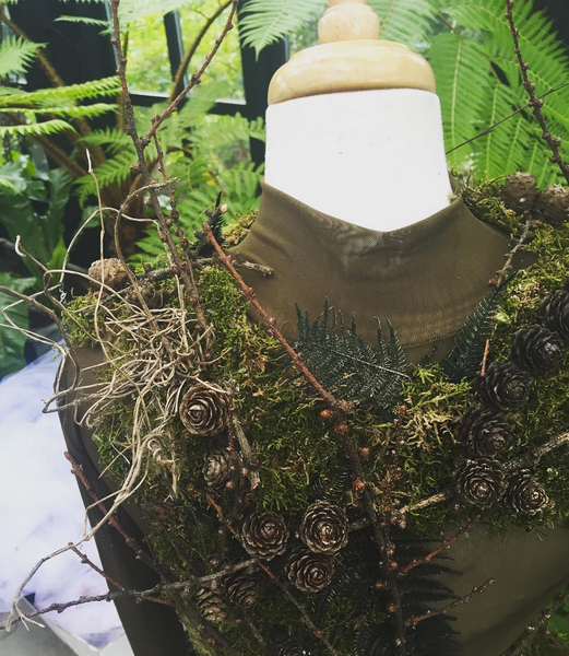 Woodland themed aerial costume by Cristina Soru for Petersham Road