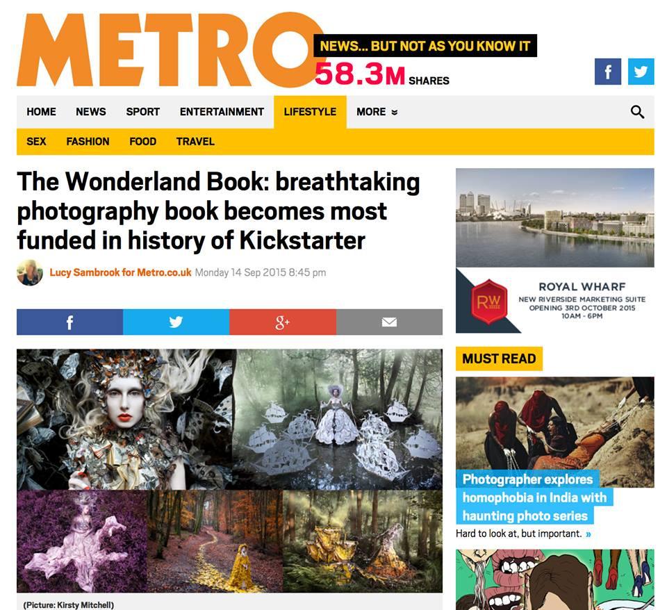Wonderland Book Kickstarter Metro Article