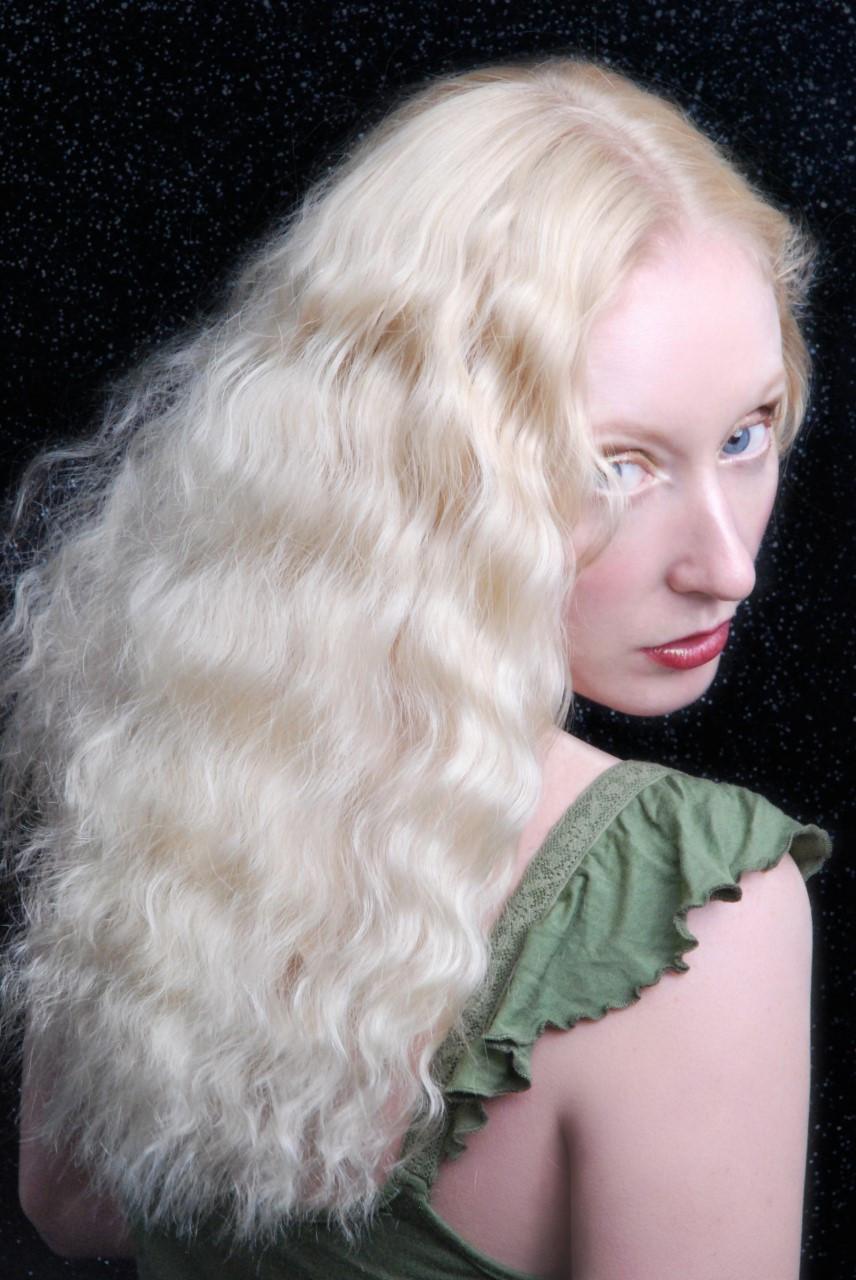 Blonde character model Katie Hardwick