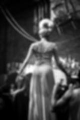 Elegant female stilt character