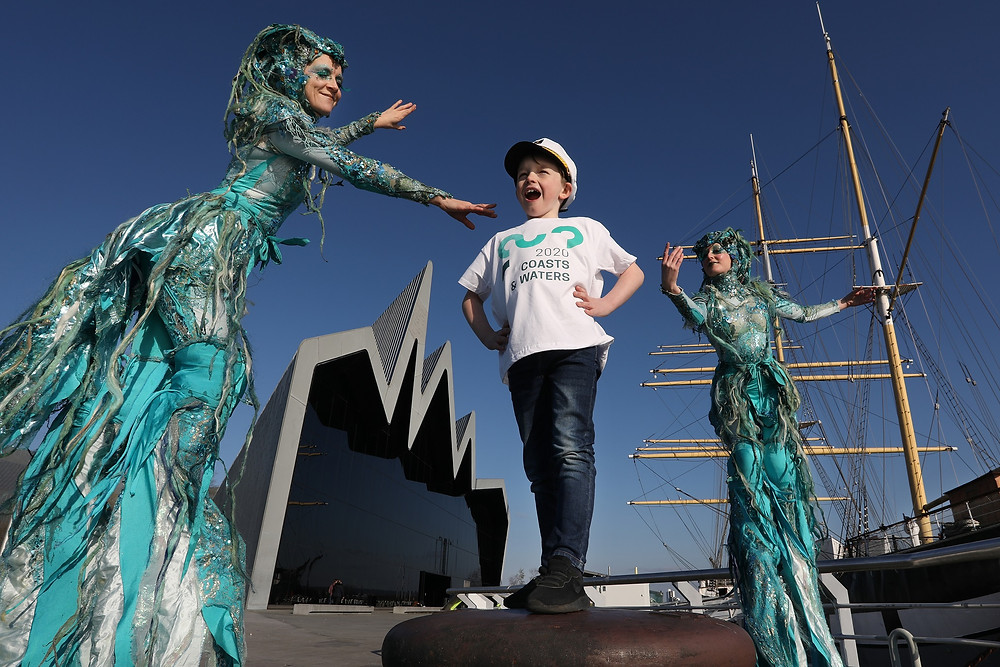 Visit Scotland Year of Coasts and Waters mermaids on stilts