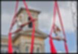 Starfiz outdoor aerial circus act on silks
