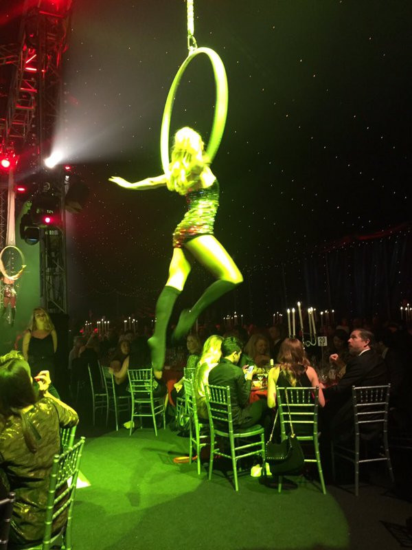 Cirque Extraordinaire Aerial Hoop Performance at the Bloomsbury Big Top