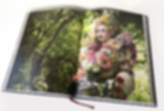 Model Katie Hardwick in Wonderland Book second edition by Kirsty Mitchell Photography
