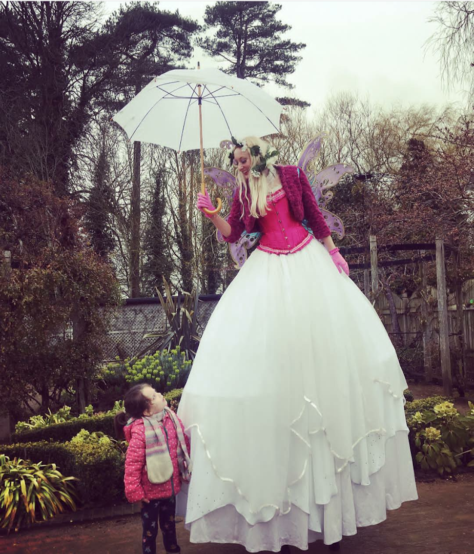 Easter Stilt Fairy at Blenheim Palace Pleasure Gardens 2018