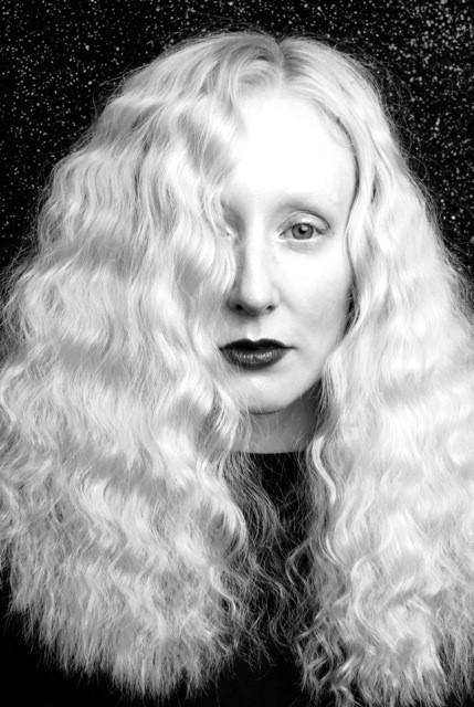 Black and White Portrait of actress model Katie Hardwick