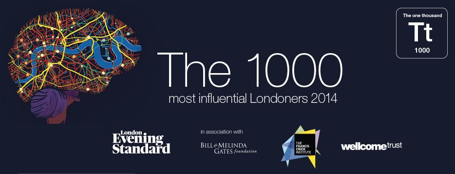 Evening Standard Top 1000 Influential Londoners 2014