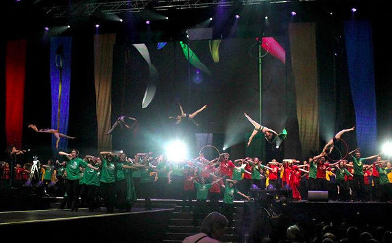Group Silks Act O2 Arena London