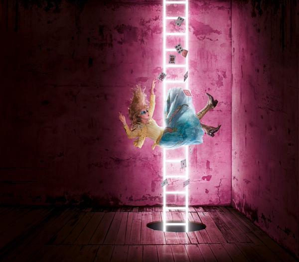 Alice Underground Falling Poster
