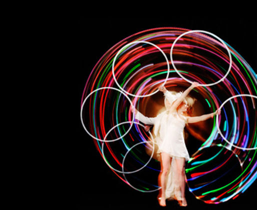 Hula hoop act circus suburbia