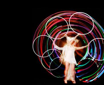 LED Hula Hoop Act