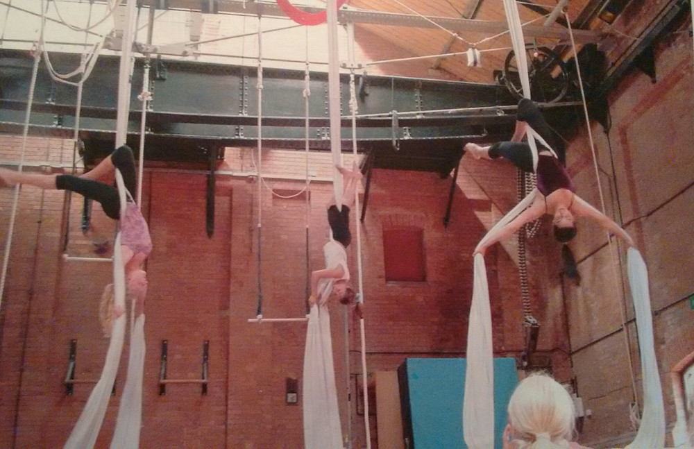 The Circus Space Generating Chamber Silks Performance