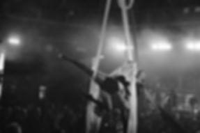Starfiz Spinning Silks in Le Haggis cabaret Spiegeltent