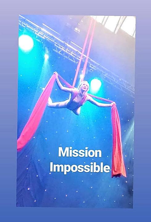 Katie Hardwick Spy theme Mission Impossible Aerial Silks Act