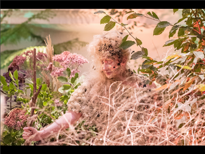 Katie Hardwick ethereal stilt walker for Petersham Nurseries