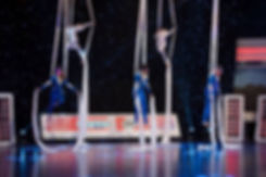 Aerial Silks on TV game show