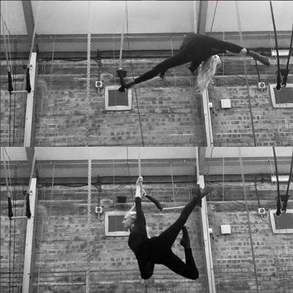 Katie Hardwick training Trapeze at the National Centre for Circus Arts London