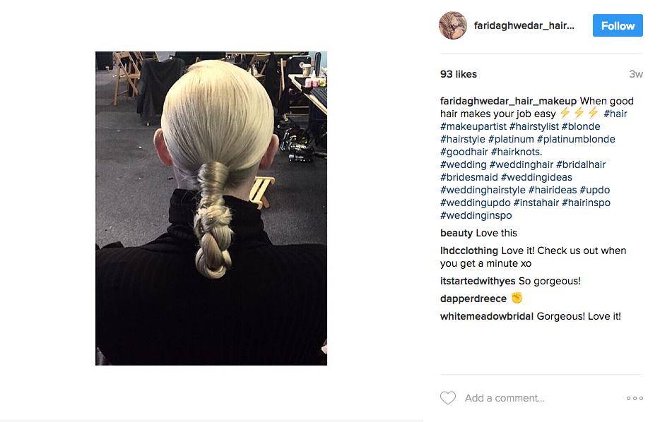 Androgynous blonde hair by Farida Ghwedar, model Katie Hardwick