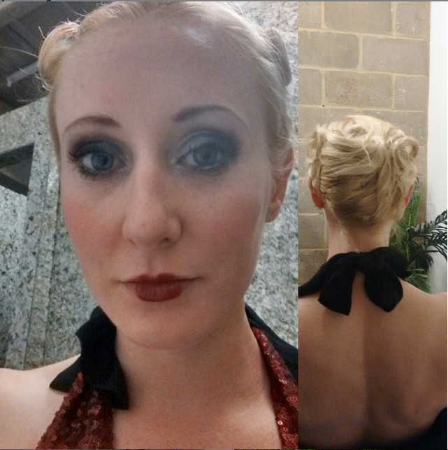 Prohibition makeup by Lottie Day