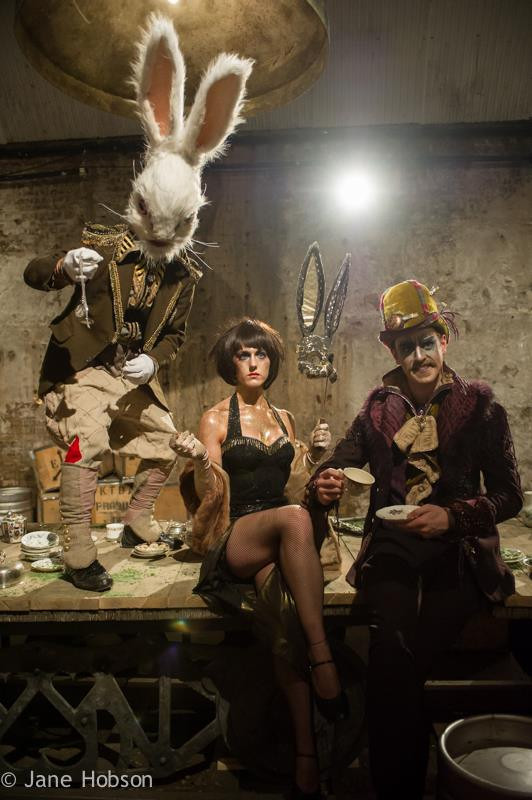 Mad Hatters Tea Party Alice Underground by Jane Hobson