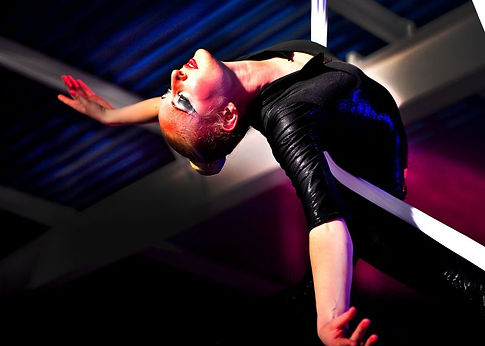 Cirque silks black costume