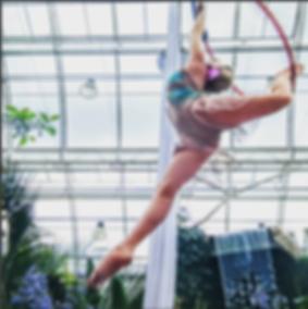 Aerial Hoop Act Persephone Greek Myth