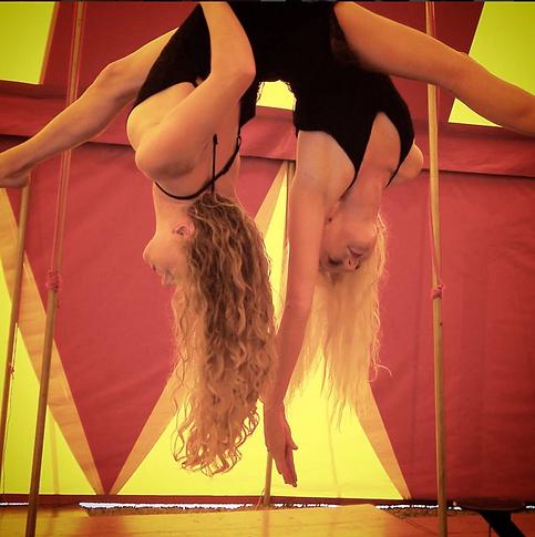aerial hoop duet Katie and Maddy Hardwick