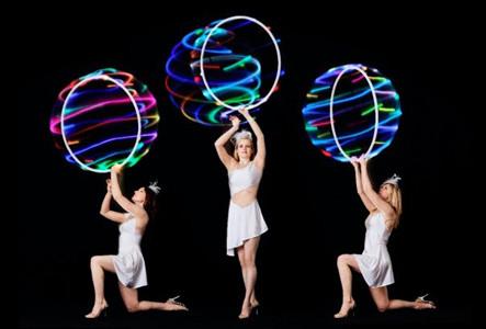 Hula Hoop Glow Girls