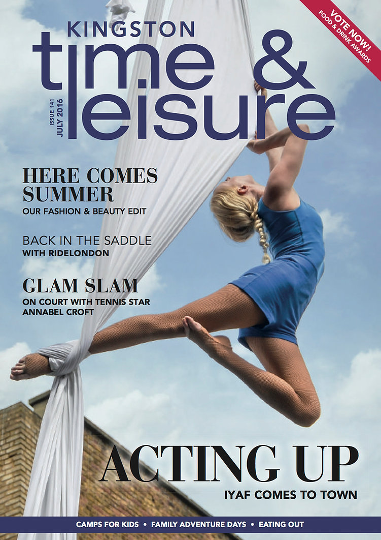 Time and Leisure Magazine Kingston July 2016 Katie Hardwick Aerialist