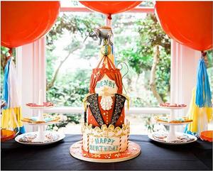 Greatest Showman themed birthday cake
