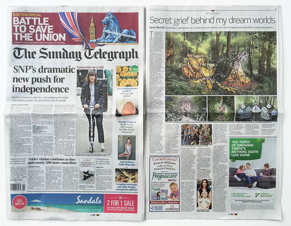 Wonderland Mead Carney Exhibition in the Sunday Telegraph