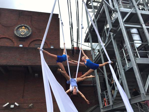Pop-Up Aerial Acrobatics in Kingston-upon-Thames