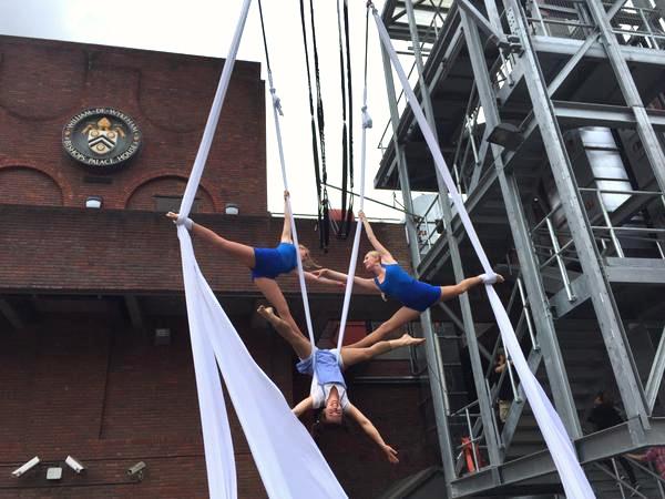Circus Suburbia aerial acrobats London UK