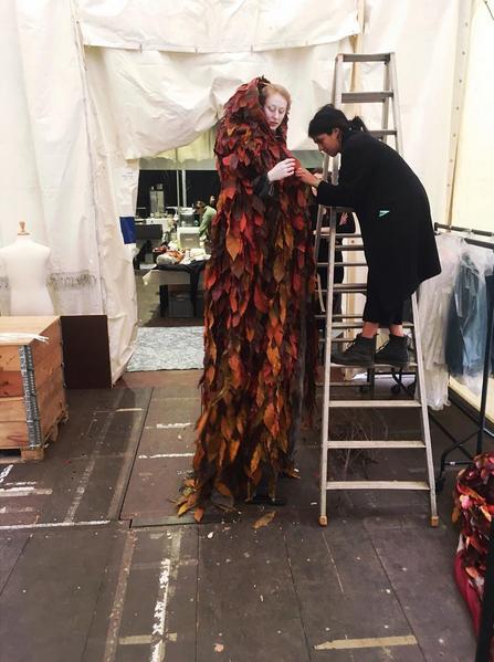 Leaf Cloak Stilt Costume